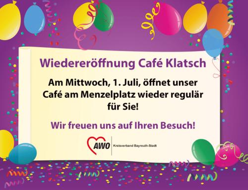 Das Café Klatsch eröffnet am 1. Juli wieder!
